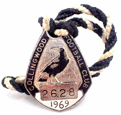 Collingwood Football Club 1969 Members Enamel Badge - #2628