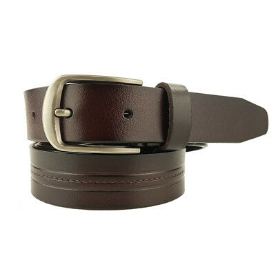 New Quality Genuine Leather 32mm Brown Full Grain Leather Belt