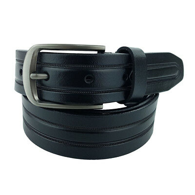 New Quality Genuine Leather 32mm Black Full Grain Leather Belt
