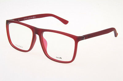 BRAND NEW GUCCI GG1096/F MATTE RED EYEGLASSES AUTHENTIC FRAME RX 57-15-140 mm !