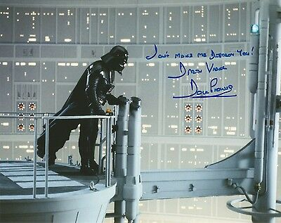 Dave Prowse Star Wars Don't make me destroy you quote hand signed photo UACC