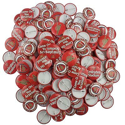 420 x Arsenal Football Club Official 38mm Badges 5p each Job Lot