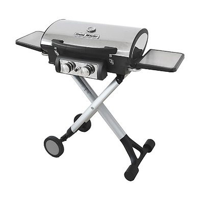 Outdoor Portable Gas Barbecue Foldable Burner Garden Patio BBQ Camping 2 Tables