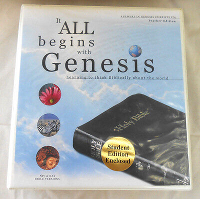 It All Begins With Genesis: Learning to Think Biblically Teacher Book AIG