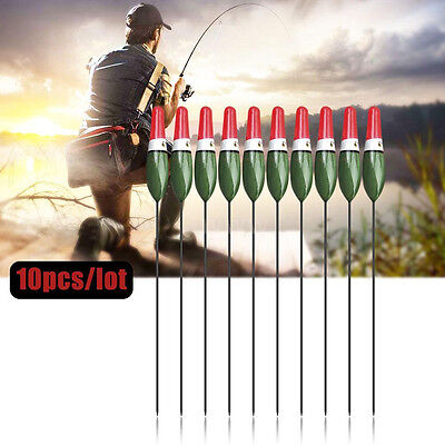 10Pcs/Set Fishing Floats Bobbers Paulownia Wood Fish Float Fishing Tackle Tools