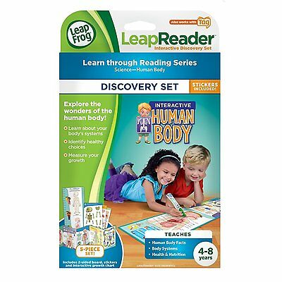 LeapFrog LeapReader Human Body Map Ages 4+ New Toy Education School Learn Play