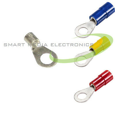 RING CRIMP TERMINAL CRIMP TERMINALS Blacnk and Insulated All Sizes Ring Eyelets
