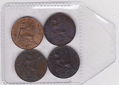 1902/1903/1904 & 1905 Edward Vii Farthings Good Very Fine Or Better Condition