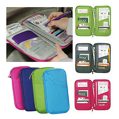 New Travel Passport Holder Ticket Wallet ID Credit Card Case Organizer Bag Purse