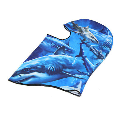 Shark Print Motorcycle Cycling Windproof Dustproof Face Mask Cap Neck Protector