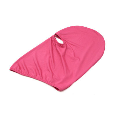 Rose Red Polyester Motorcycle Cycling Windproof Face Mask Cap Neck Protector