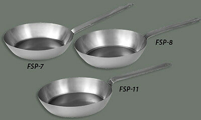 Winco CSFP-7 7in French Style Carbon Steel Pan
