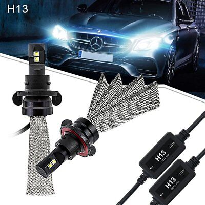 2x  8000LM LED Headlight H13 9008 High Low Beam Bulbs 6500K pure white For Ford