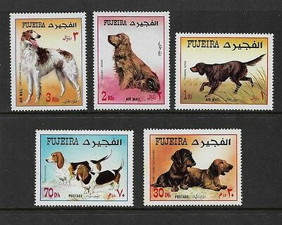 FUJEIRA - 1970 Dogs, set of 5
