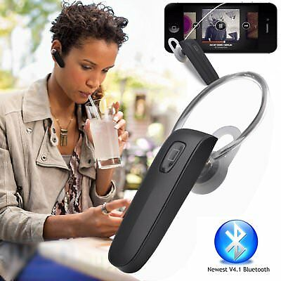 4.1 Stereo Bluetooth Wireless Headset/Headphones With Call Mic/Microphone Black