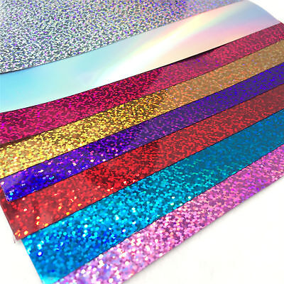 A4 Sheet PVC Sparkle Glitter Iron-on Heat Press Transfer HTV Vinyl Film T shirt