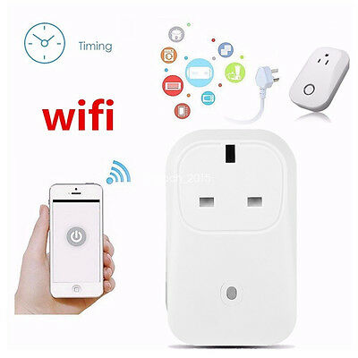 Wireless WiFi Smart Mobile App Remote Control Power Switch Socket Outlet UK Plug