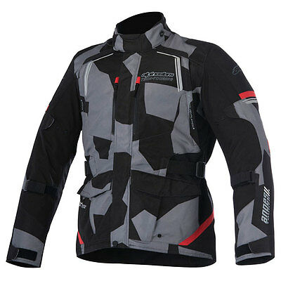 Alpinestars Andes Drystar V2 Camo Red Motorcycle Motorbike Jacket | All Sizes