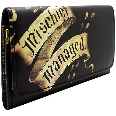New Official Warner Harry Potter Marauders Map Black Coin & Card Trifold Purse