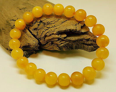 Bracelet Natural Baltic Amber Stone 8,9g Vintage Old Butterscotch Bead Sea A-091