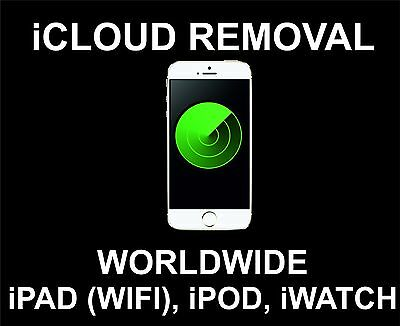 iCloud Unlock, Remove Service: iPad, iPod, iWatch, (Wifi Devices Only): Read !