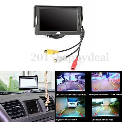 4.3'' Inch HD Digital Monitor TFT LCD Color Screen Car Reversing Camera 12V 3W
