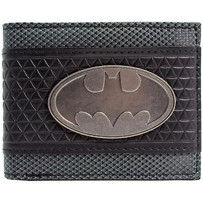 New Official Awesome Textured Gold Dc Comics Batman Badge Symbol Bi-Fold Wallet