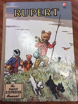 Vintage Daily Express RUPERT THE BEAR ANNUAL 1955