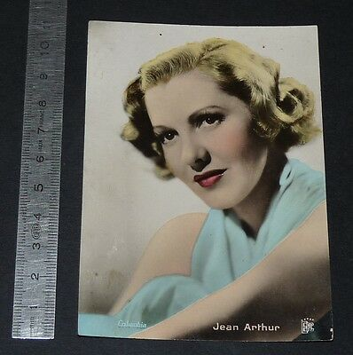 Carte Photo Jean Arthur Columbia Pictures Hollywood Cinema Actrice Deeds Smith