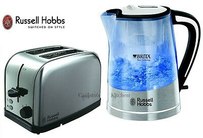 Kettle and Toaster Set Russell Hobbs Brita Filter Kettle and 2-Slice Toaster New