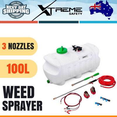 100L ATV Weed Sprayer With 3 Nozzles Lawns Fertilizer Herbicides Pesticides