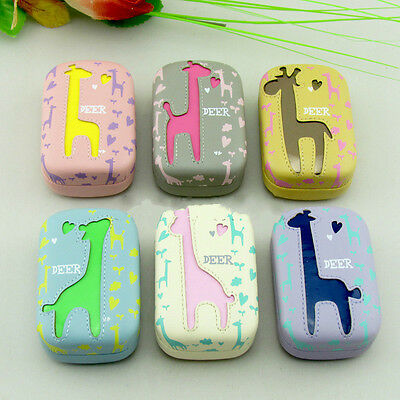 Deer Contact Lens Case US-Pupil Lenses cases Storage Box Hard Case Cosmetic Tool