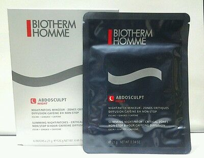 BIOTHERM HOMME ABDOSCULPT NIGHT PATCHES NOTTE SPECIFICI ZONA ADDOMINALE 6 x 21gr