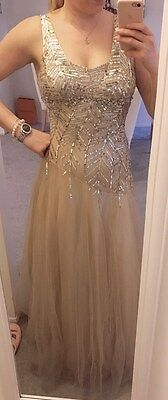 Jovani US 8 evening gown mother of the bride bridesmaid dress in gold champagne