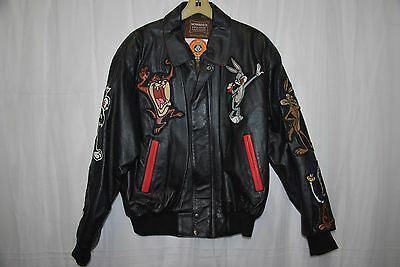 Men's Howard's Exclusive Leathers Looney Tunes Leather Jacket size Medium