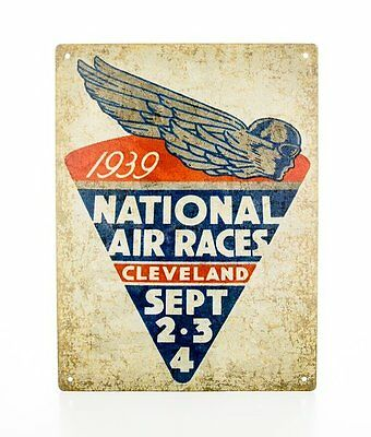 """Reproduction """"1939 National Air Races"""" Metal Sign Vintage Aviation SIG-0104"""