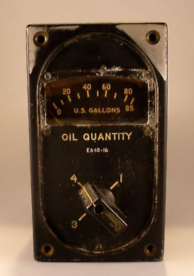4-Way Oil Quantity Gauge as removed from WW II B-29 Superfortress  INS-0110