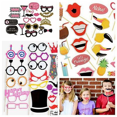 Supplies Photo Booth Props Hat&Glasses Mustache On A Stick Selfie Background
