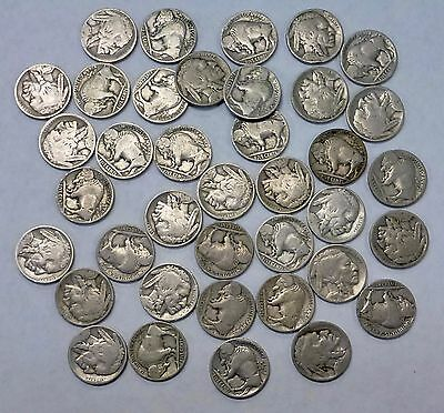 {BJStamps}  1918 Buffalo NICKEL ROLL 40 Coins AG-VG