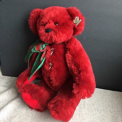 "Annette Funicello Collectible Bear, Rosie, Christmas Collection,15"",  jointed"