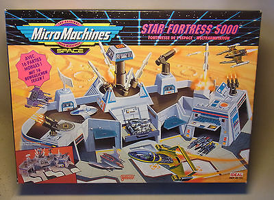 Vintage 90s Playset Spielwelt Micro Machines Space STAR FORTRESS 5000 OVP 1993