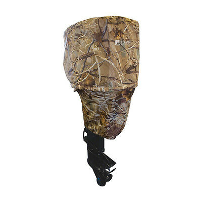 """Camo Boat Motor Cover-Outboard Motors up to 15 H.P 16""""L 11""""W 29""""H"""