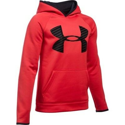 Under Armour Boy's Highlight Hoodie- Red