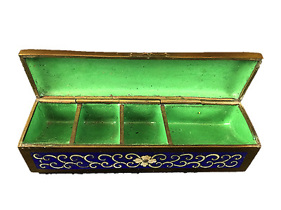 Chinese Cloisonne Stamp Box Early 20th Century