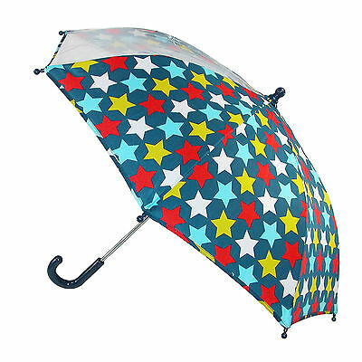 New CTM Kids' Star Print Stick Umbrella with Single Clear Panel
