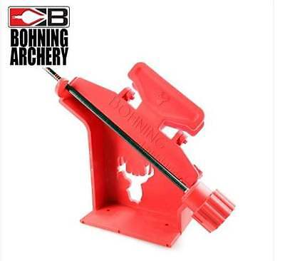 BOHNING Pro Class Arrow Fletching Jig, Left, Right or staight Wing clamp! NEW!