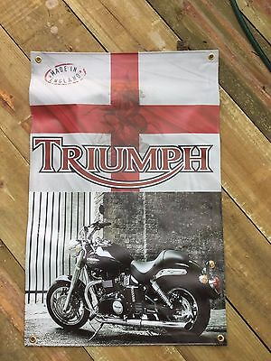 3X2 FT VINYL POSTER  triumph motor cycles  MAN CAVE POOL ROOM GARAGE ART SIGNS