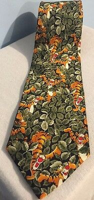 Disney Walt Disney World Men's Tie Tigger in the Jungle NWT 4W 58L