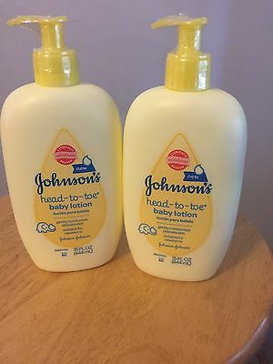 LOT OF 2~ Johnsons Head-To-Toe Baby Lotion 15 oz &~new and sealed~