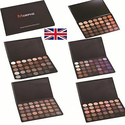GENUINE New Morphe Brushes Eye Shadow Palette 35F,35O,35OS,35T,35W,35N,35K & 35P